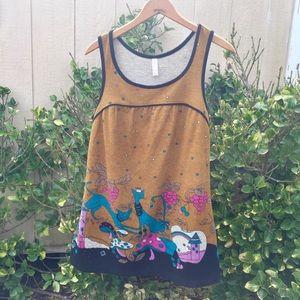 Mossimo Cat Shirt/Top Mushroom Boho Vintage